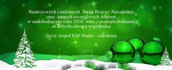 życzenia świąteczne i noworoczne od KM Studio - szkolenia