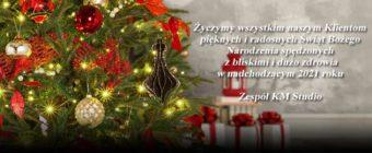 Życzenia świąteczne i na nowy rok 2021 | KM Studio - szkolenia